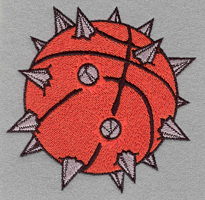 Embroidery Design: Basketball with spikes3.90w x 3.89h