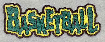 Embroidery Design: Basketball text3.90w X 1.47h