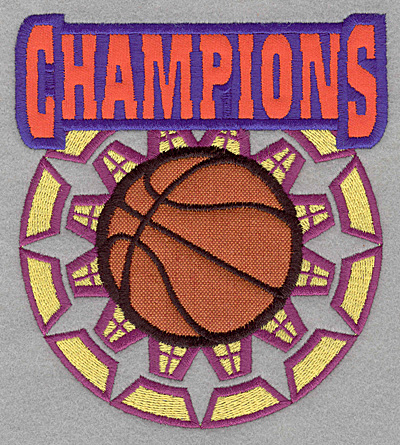 Embroidery Design: Champions with double applique4.99w X 5.54h