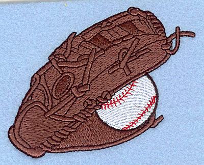 "Embroidery Design: Baseball glove 3.84""w X 3.02""h"