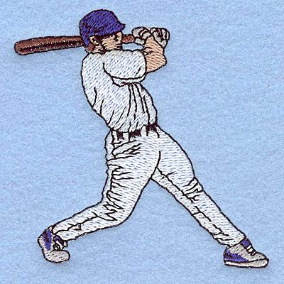 "Embroidery Design: Baseball batter 3.11""w X 3.13""h"