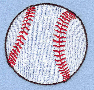 "Embroidery Design: Baseball 3.10""w X 3.08""h"