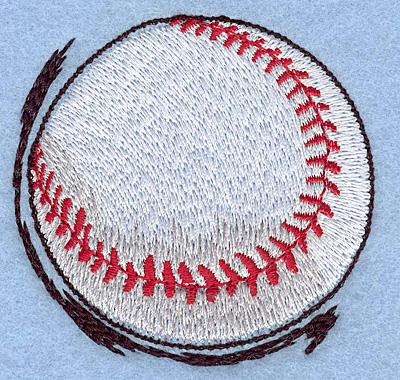 """Embroidery Design: Baseball in motion 2.70""""w X 2.63""""h"""