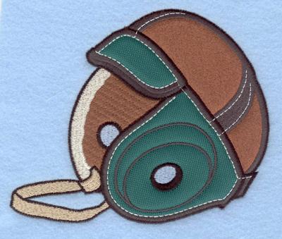 Embroidery Design: Vintage football helmet applique5.81w X 5.00h