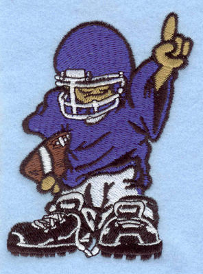Embroidery Design: Football player 1 small2.85w X 3.90h
