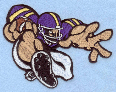 Embroidery Design: Football player 2 large5.00w X 3.82h