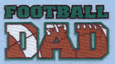Embroidery Design: Football Dad   3.89w X 2.07h