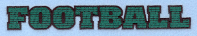 Embroidery Design: Football text7.00w X 0.92h