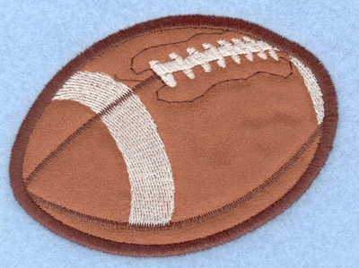 Embroidery Design: Football applique3.90w X 2.88h