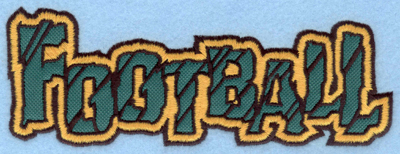 Embroidery Design: Football text applique7.00w X 2.55h