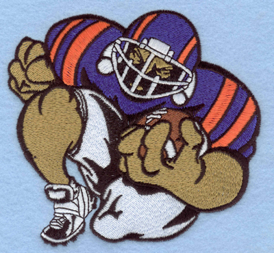 Embroidery Design: Football player A large5.00w X 4.73h