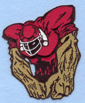 Embroidery Design: Football player B large4.12w X 5.00h