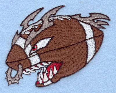 Embroidery Design: Angry football3.90w X 3.30h
