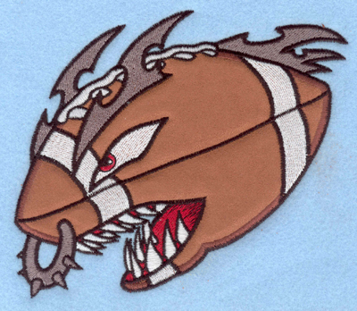 Embroidery Design: Angry football applique5.87w X 5.00h