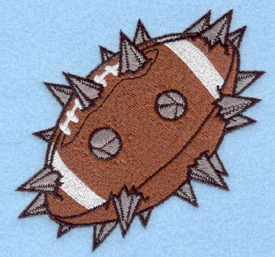 Embroidery Design: Spiked football3.90w X 3.85h