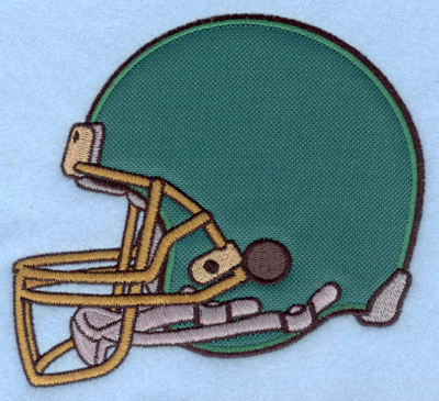 Embroidery Design: Football helmet applique5.50w X 5.00h