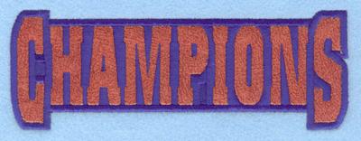 Embroidery Design: Champions applique7.00w X 2.46h