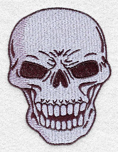 Embroidery Design: Skull A2.95w X 3.90h