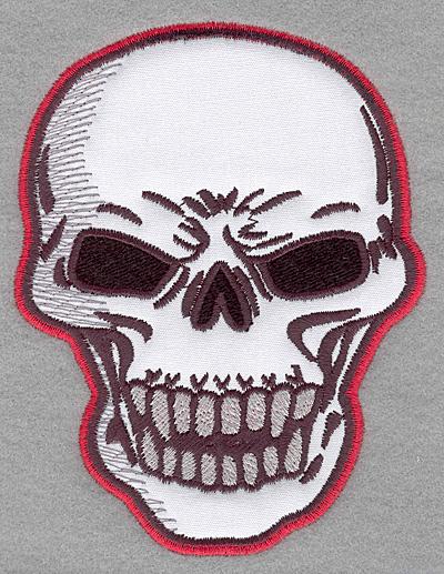 Embroidery Design: Skull A applique 3.81w X 5.00h