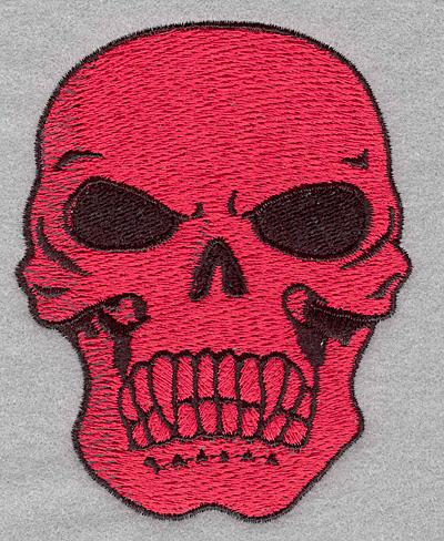 Embroidery Design: Skull B3.09w X 3.90h