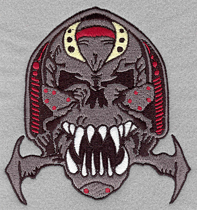 Embroidery Design: Warrior skull large4.67w X 5.00h