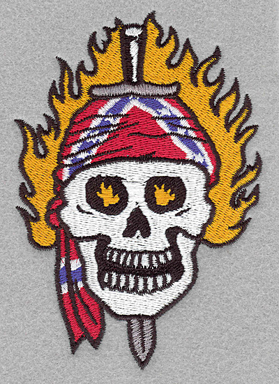Embroidery Design: Skull with sword large3.50w x 5.00h
