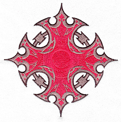 Embroidery Design: Gothic design large4.98w X 4.98h