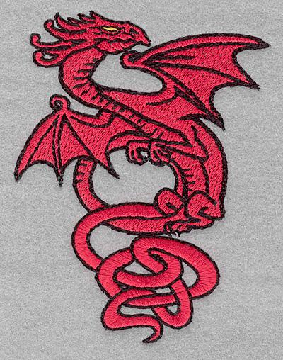 Embroidery Design: Dragon3.47w X4.55h