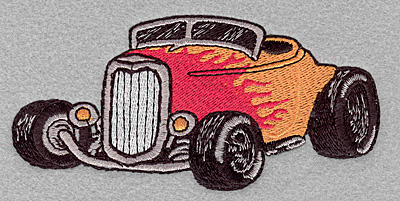 Embroidery Design: Roadster large 5.00w x 2.41h
