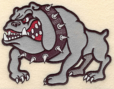 "Embroidery Design: Bulldog medium applique 6.43""w X 5.00""h"