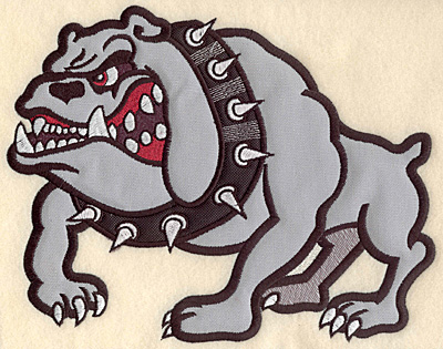 "Embroidery Design: Bulldog large double applique 10.01""w X 7.79""h"