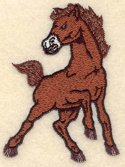 """Embroidery Design: Mustang small 2.60""""w X 3.53""""h"""