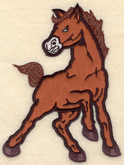"Embroidery Design: Mustang medium applique 5.00""w X 6.74"" h"