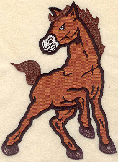 """Embroidery Design: Mustang large applique 7.50""""w X 10.13""""h"""