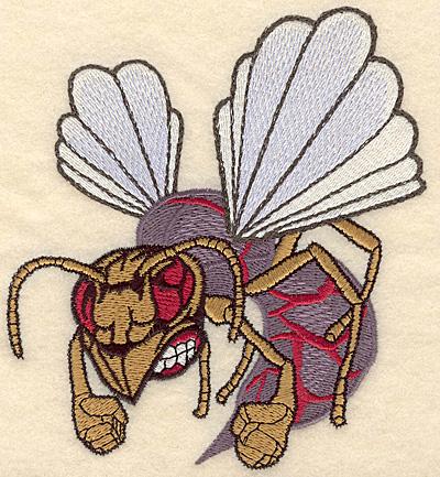 "Embroidery Design: Hornet medium 4.99""w X 5.52""h"