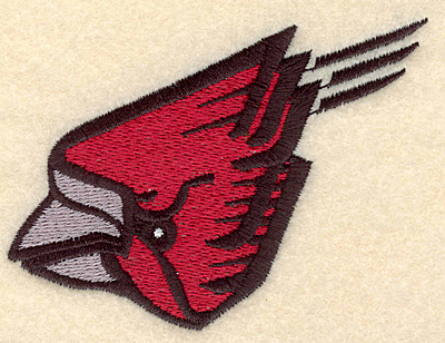 """Embroidery Design: Cardinal small 3.75""""w X 3.00""""h"""