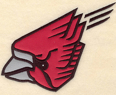 "Embroidery Design: Cardinal medium double applique 6.29""w X 5.00""h"