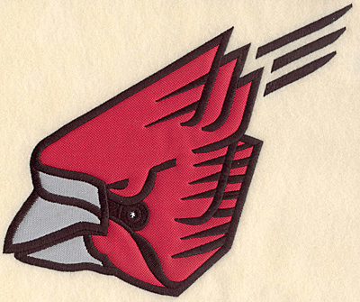 "Embroidery Design: Cardinal large double applique 9.43""w X 7.50""h"