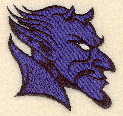 """Embroidery Design: Devil small 3.02""""w X 2.86""""h"""