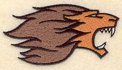 """Embroidery Design: Lion small 3.74""""w X 1.95""""h"""