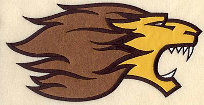 """Embroidery Design: Lion large double applique 10.50""""w X 5.50""""h"""