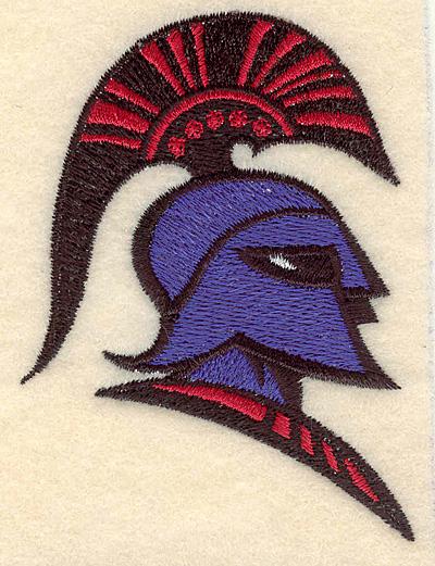 """Embroidery Design: Trojan warrior small 2.59""""w X 3.51""""h"""