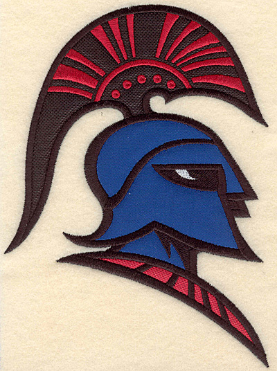 "Embroidery Design: Trojan warrior medium triple applique 5.00""w X 6.85""h"
