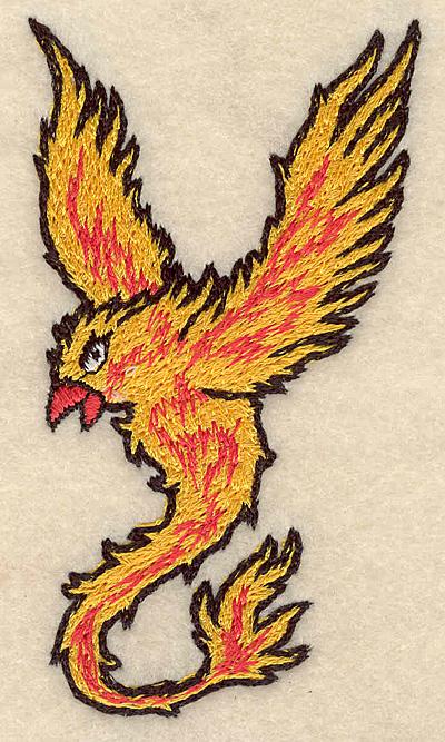 """Embroidery Design: Phoenix small 2.12""""w X 3.83""""h"""