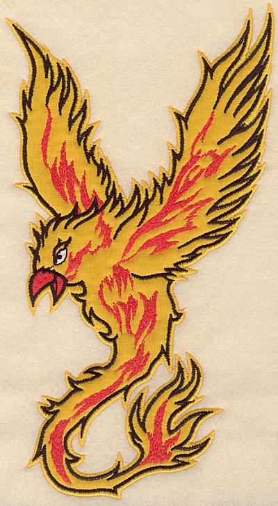 """Embroidery Design: Phoenix large applique 5.90""""w X 10.76""""h"""