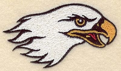 """Embroidery Design: Eagle head small 3.76""""w X 2.15""""h"""