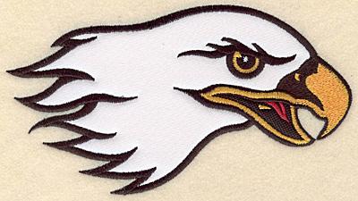 "Embroidery Design: Eagle head medium applique 7.00""w X 4.02""h"
