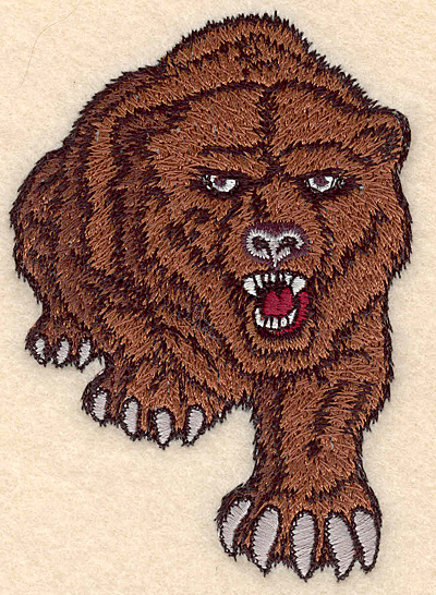 "Embroidery Design: Bear small 2.77""w X 3.96""h"