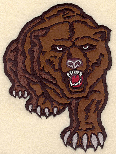 "Embroidery Design: Bear medium applique 5.00""w X 6.82""h"