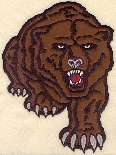 "Embroidery Design: Bear large applique 7.51""w X 10.23""h"